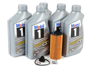 ES#3125874 - 11428570590kt11 - MINI Mobil 1 0w-40 Oil Service Kit Gen 3 1.5L - Priced As Kit - All in one service for your MINI : with Oil Pan Drain Plug - Assembled By ECS - MINI