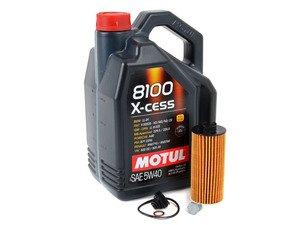ES#3125875 - 11428570590kt12 - MINI Motul 8100 X-Cess 5w-40 Oil Service Kit Gen 3 1.5L - Priced As Kit - All in one service for your MINI : with Oil Pan Drain Plug - Assembled By ECS - MINI