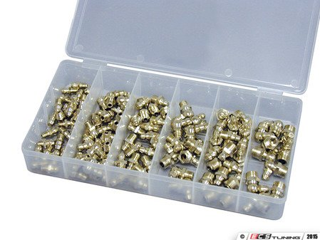ES#2932398 - ATD374 - 110 Pc. Metric Grease Fitting Assortment - Keep your moving parts greased - ATD Tools - Audi BMW Volkswagen Mercedes Benz MINI Porsche