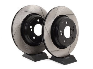 ES#3025841 - 34212229379GS - Gas-Slotted Brake Rotors - Rear - This design removes performance robbing outgas and material dust caused by braking - StopTech - BMW