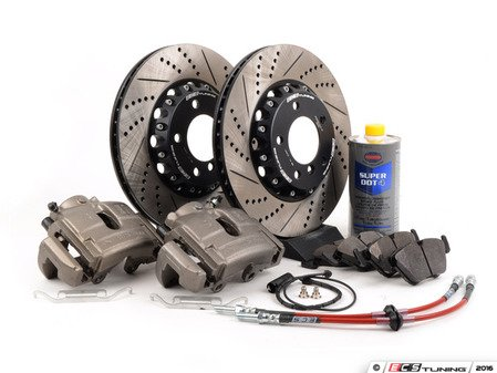ES#3129778 - 341136465 -  OE Front Big Brake Kit (325x25) - Featuring ECS 2-piece rotors and Hawk HPS pads! - Assembled By ECS - BMW