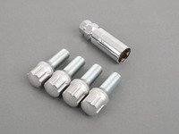 ES#3097183 - CAL2527AG-4833Z - 17mm Locking Aluminum Head Locking Bolt - Set Of Four - Featuring 7075 heat-treated aluminum top with Trivalent Chromate plated threads. 14x1.5x33mm - Taper Pro - Audi Volkswagen