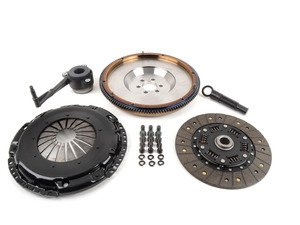 ES#3021848 - BFI20F240ST2 - BFI Stage 2 Clutch Kit - Forged Steel Flywheel (18.85lbs) - Includes a lightweight 4140 forged steel flywheel, performance pressure plate and full faced steel back clutch disk. Rated for 400wtq. - Black Forest Industries - Volkswagen