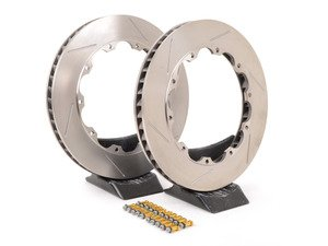 ES#3130101 - 3084519PDKN9N0TO - Replacement Slotted Rotor Rings - Pair (355x32mm) - Replacement re-ring kit for StopTech 355x32mm Big Brake Kits - Includes left & right side slotted rotors and associated rotor hat hardware - StopTech - Audi Volkswagen