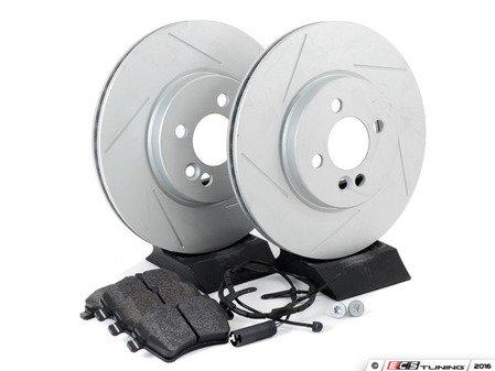 ES#2598397 - 34116774986SLKT2 - Performance Front Brake Service Kit - Featuring ECS GEOMET Slotted rotors and Hawk HPS pads - Assembled By ECS - MINI