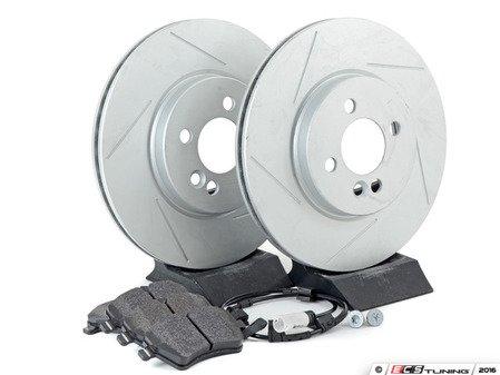ES#2597873 - 34116858652SLKT - Performance Front Brake Service Kit - Featuring ECS GEOMET Slotted rotors and Hawk HPS pads - Assembled By ECS - MINI