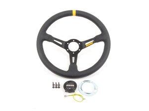 ES#3089062 - R1908/35L - MOMO Mod.08 Steering Wheel - Black Leather - 350mm  - Black suede with black spoke finish - MOMO - Audi BMW Volkswagen MINI