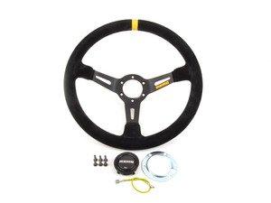ES#3072231 - R1908/35S - MOMO Mod.08 Steering Wheel - Black Suede - 350mm  - Black suede with black spoke finish - MOMO - Audi BMW Volkswagen MINI
