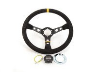 ES#3072230 - R1905/35S - MOMO Mod.07 Steering Wheel - Black Suede - 350mm  - Black suede with black spoke finish - MOMO - Audi BMW Volkswagen MINI