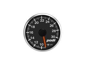 ES#3131139 - OTI-RR - Podi Stepper Motor Oil Temperature Gauge - Red Needle - Red/White Back Lighting - 52mm gauge with wiring kit and remote - Podi - Audi
