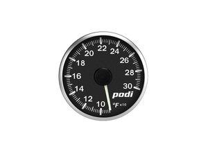 ES#3131140 - OTI-RW - Podi Stepper Motor Oil Temperature Gauge - White Needle - Red/White Back Lighting - 52mm gauge with wiring kit and remote - Podi - Audi