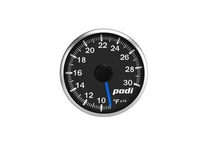ES#3131138 - OTI-RB - Podi Stepper Motor Oil Temperature Gauge - Blue Needle - Red/White Back Lighting - 52mm gauge with wiring kit and remote - Podi - Audi