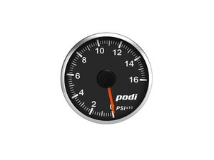 ES#3131129 - OPI-RR - Podi Stepper Motor Oil Pressure Gauge - Red Needle - Red/White Back Lighting - 52mm gauge with wiring kit and remote - Podi - Audi