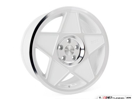 "ES#3108223 - 3s5881wcKT - 18"" 0.05 - Set Of Four - 18""x8.5"" ET42 5x112 - White/Polished - 3SDM - Audi Volkswagen"