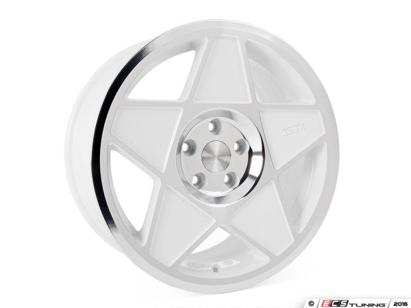 "ES#3108223 - 3s5881wcKT - 18"" 0.05 - Set Of Four - 18""x8.5"" ET42 5x112 - White/Polished - 3SDM - Audi Volkswagen"