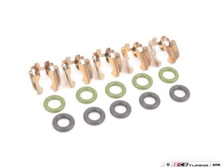 ES#2581993 - 035906149AKT2 - Fuel Injector Installation Kit - Includes all the necessary o-rings and injector clips to swap your injectors - Assembled By ECS - Volkswagen