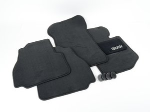ES#195671 - 82111468282 - Carpeted Floor Mat Set - Black - Protect your carpet from whatever mother nature can dish out - Genuine BMW - BMW