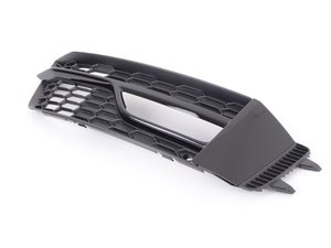 ES#2832698 - 8K0807682T01C - Competition S-Line Fog Light Grille - Satin Black - Right  - Keep your exterior looking clean - Genuine Volkswagen Audi - Audi