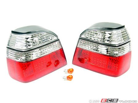 ES#10636 - FKRLXLVW305 - LED Tail Light Set - Clear/Red - LED tail lights for your MKIII Golf / GTI / Cabrio - FK - Volkswagen
