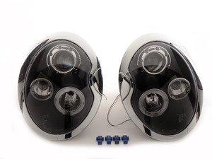 ES#3021244 - 2LHPMINI01JMTM - Halo LED Projector Black Headlights - Pair 2LHP-MINI01JM-TM - LED DRL and black housing halogen projector headlight set! - Spec-D Tuning - MINI