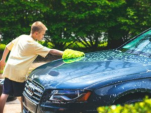 "ES#2619165 - MIC493 - Chenille Plush Microfiber Mitt - This lime green wash mitt measures 7""X9"" - Chemical Guys - Audi BMW Volkswagen Mercedes Benz MINI Porsche"