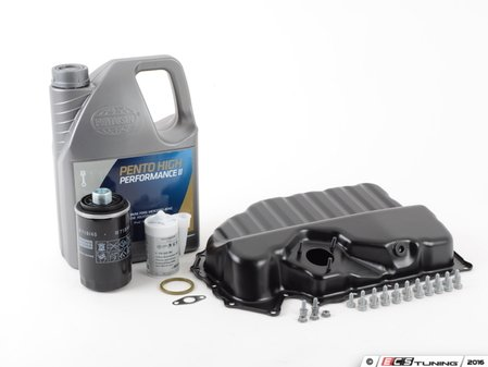 ES#2602495 - 06J103600AFKT - Oil Pan Replacement Kit - Everything required to replace your leaking pan, including the oil change - Assembled By ECS - Audi