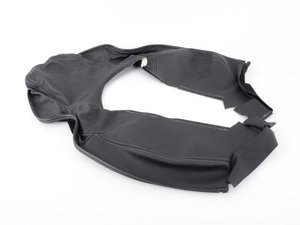 ES#1501164 - 997521941028YR - Backrest Cover - Black - Replace your worn or ripped seat cover - Genuine Porsche - Porsche