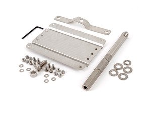 ES#3089104 - 0002S-AU2-200 - No Holes License Plate Bracket Kit - Avoid drilling holes in your bumper by utilizing a tow hook mounted plate bracket - GMG Motorsports - Audi