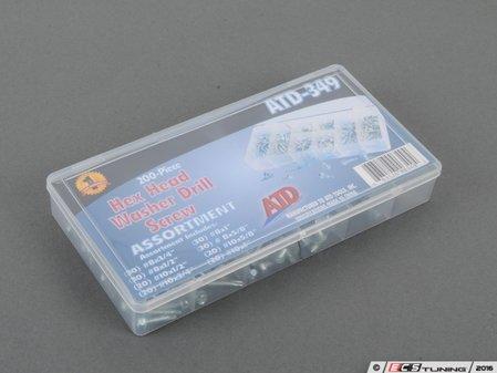 ES#2932387 - ATD349 - 200 Pc. Hex Washer Head Self-Drilling Screw Assortment - Always have extra screws - ATD Tools - Audi BMW Volkswagen Mercedes Benz MINI Porsche