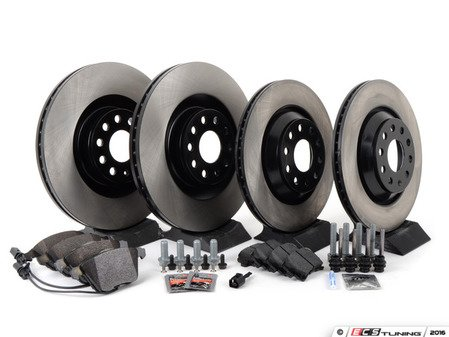 ES#2702166 - 1K0615301M - Front & Rear Brake Service Kit - Everything you'll need to perform a complete brake system service on your vehicle - Assembled By ECS - Volkswagen