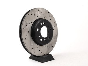 ES#3049337 - 128.34050R 457 - Cross-Drilled Brake Rotor - Front - This design removes performance robbing outgas and material dust caused by braking - StopTech - BMW
