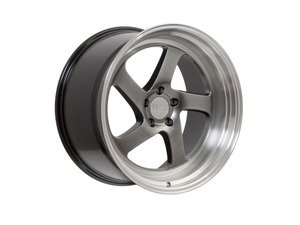 "ES#3137047 - F281895MA38KT - 18"" F28 - Set Of Four  - 18""x9.5"" ET38 5x100/5x114.3 - Machine Black/Polished Lip - F1R Wheels - Audi Volkswagen"