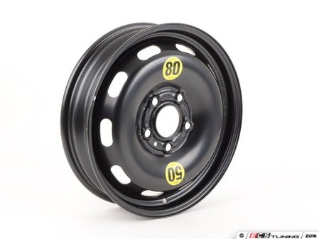 ES#2781985 - 36116851506 - Emergency Steel Wheel - Spare - 15 x 3 1/2 ET:28 , Rim only for 115/70/15 tire size. - Genuine MINI - MINI