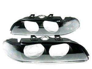 ES#10669 - FKBL041013 - Indicator Cover / Headlight Cover Set - Smoke - Smoke Euro look headlight cover for your BMW E39 - FK - BMW