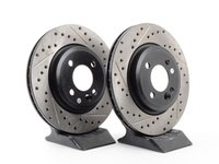 ES#3524901 - 34116768933cdsKT - Cross-Drilled & Slotted Brake Rotors - Front Pair 11.57