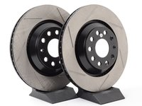 ES#2996762 - 126.33113cKT - Rear Slotted Rotors - Pair (310x22) - Featuring tougher, cryogenically treated Cryo rotors. - StopTech - Audi Volkswagen