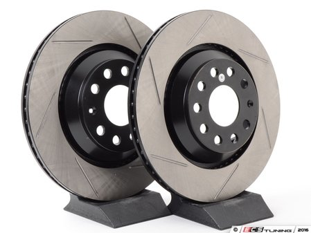 ES#2855269 - st126.33113srlKT - Rear Slotted Rotors - Pair (310x22) - Upgrade to a slotted rotor for improved braking - StopTech - Audi Volkswagen