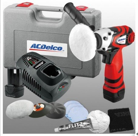 """ES#2931777 - ACDARS1210R - Cordless Lithium-Ion 3"""" Mini Polisher with Headlight Restoration Kit - Restore your faded quickly and professionally with this kit. - AC Delco - Audi BMW Volkswagen Mercedes Benz MINI Porsche"""