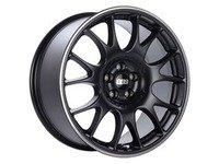 "ES#3137563 - CH012BPOKT - 18"" CH - Set Of Four  - 18""x8.5"" ET35 5x112 - Satin Black with Polished Rim Protector - BBS - Audi Volkswagen"