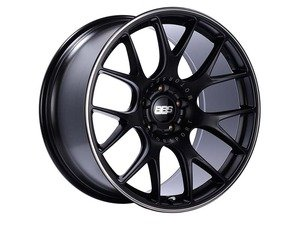 "ES#3137836 - CH146BPOKT - 18"" CH-R - Set Of Four  - 18""x8.5"" ET38 5x112 - Satin Black with Polished Rim Protector - BBS - Audi Volkswagen"