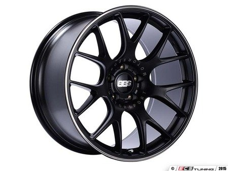 "ES#3137825 - CH139BPOKT - 18"" CH-R - Set Of Four  - 18""x8.5"" ET47 5x112 - Satin Black with Polished Rim Protector - BBS - Audi Volkswagen"