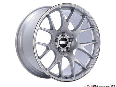 "ES#3137838 - CH146SPOKT - 18"" CH-R - Set Of Four  - 18""x8.5"" ET38 5x112 - Brilliant Silver with Polished Rim Protector - BBS - Audi Volkswagen"