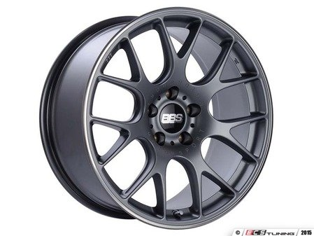 "ES#3137704 - CH127TIPOKT - 19"" CH-R - Set Of Four  - 19""x8.5"" ET48 5x112 - Satin Titanium with Polished Rim Protector - BBS - Audi Volkswagen"