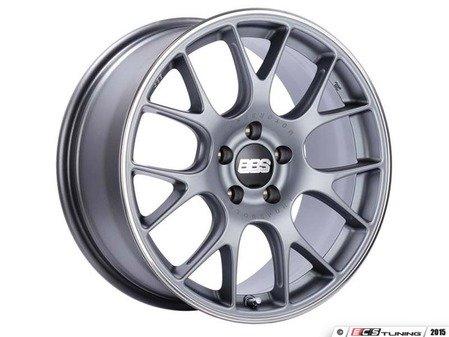 "ES#3137834 - CH139TIPOKT - 18"" CH-R - Set Of Four  - 18""x8.5"" ET47 5x112 - Satin Titanium with Polished Rim Protector - BBS - Audi Volkswagen"