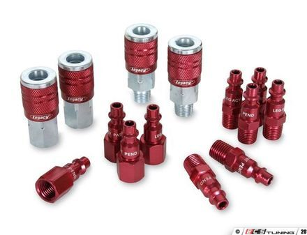 """ES#2944077 - LEGA73458D - ColorConnex Type D 1/4"""" Body Coupler and Plug kit anodized - Color coded quick coupler starter set for all your air needs. - Legacy Mfg. Co. - Audi BMW Volkswagen Mercedes Benz MINI Porsche"""