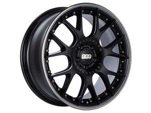 "ES#3137843 - CH650BPPOKT - 20"" CH-RII - Set Of Four  - 20""x8.5"" ET42 5x112 - Satin Black Center, Platinum Lip with Stainless Steel Rim Protector - BBS - Audi Volkswagen"