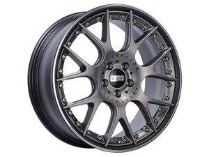 "ES#3137845 - CH650PBPOKT - 20"" CH-RII - Set Of Four  - 20""x8.5"" ET42 5x112 - Satin Platinum Center, Black Lip with Stainless Steel Rim Protector - BBS - Audi Volkswagen"