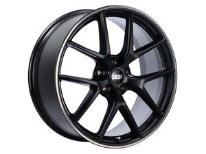 "ES#3138048 - CI2103BPOKT - 19"" CI-R - Set Of Four  - 19""x8.5"" ET45 5x112 - Satin Black with Polished Rim Protector - BBS - Audi Volkswagen"