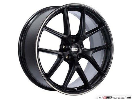 "ES#3138035 - CI2101BPOKT - 19"" CI-R - Set Of Four  - 19""x8.5"" ET32 5x112 - Satin Black with Polished Rim Protector - BBS - Audi Volkswagen"