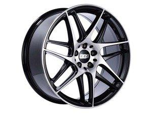 "ES#3138102 - CX002BPKKT - 19"" CX-R - Set Of Four  - 19""x8.5"" ET35 5x112 - Gloss Black with Diamond Cut Face - BBS - Audi Volkswagen"